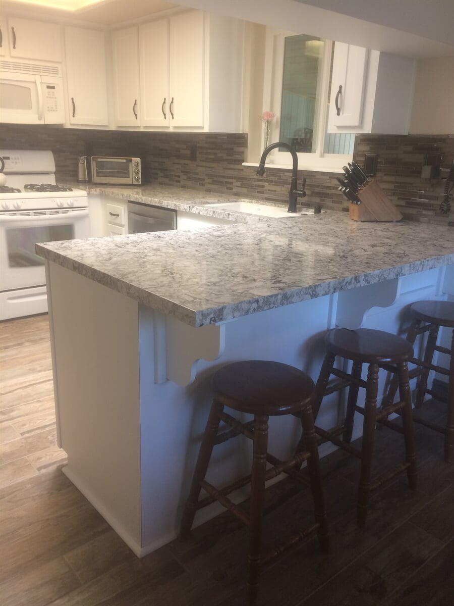 Kitchen remodels including flooring installation