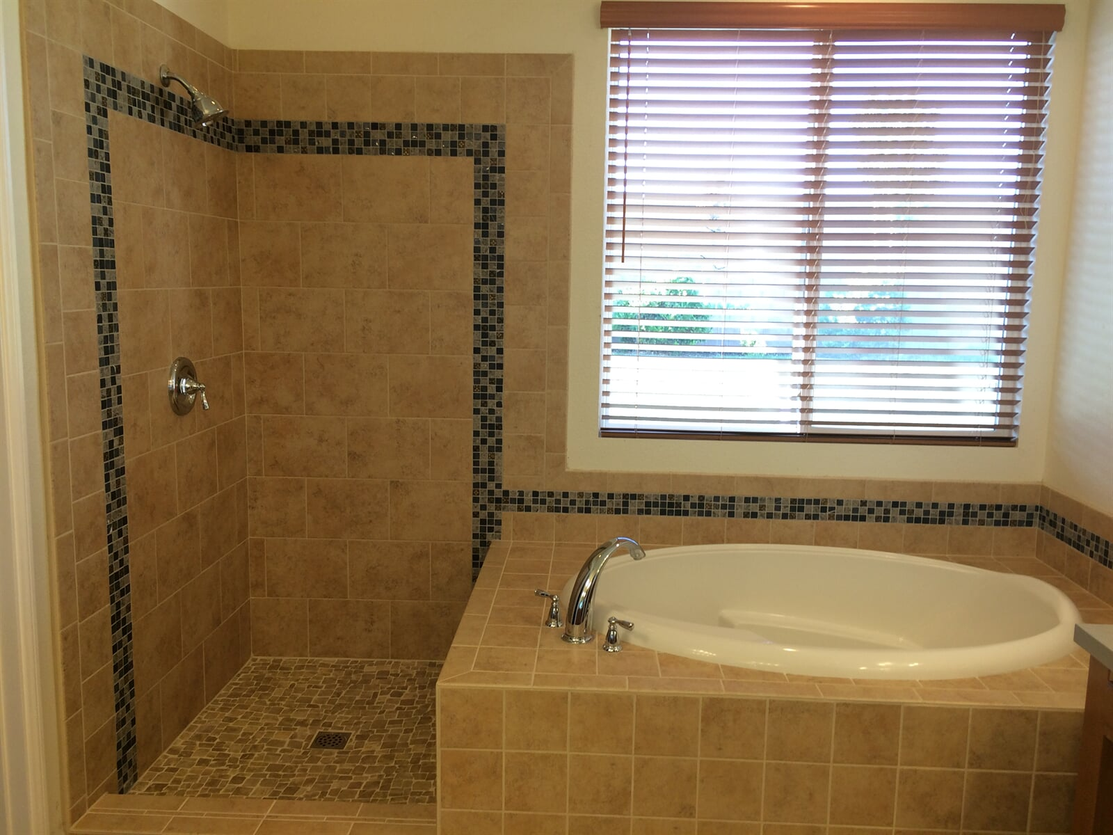 after tile installation and remodel