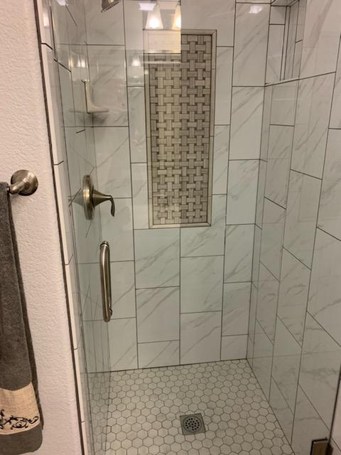 Shower tile installation and remodeling