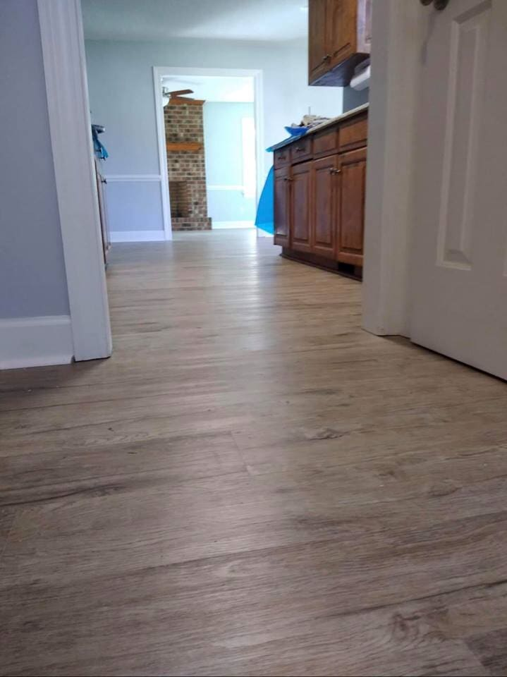 Luxury plank in home in Wilson, NC from Richie Ballance Flooring & Tile