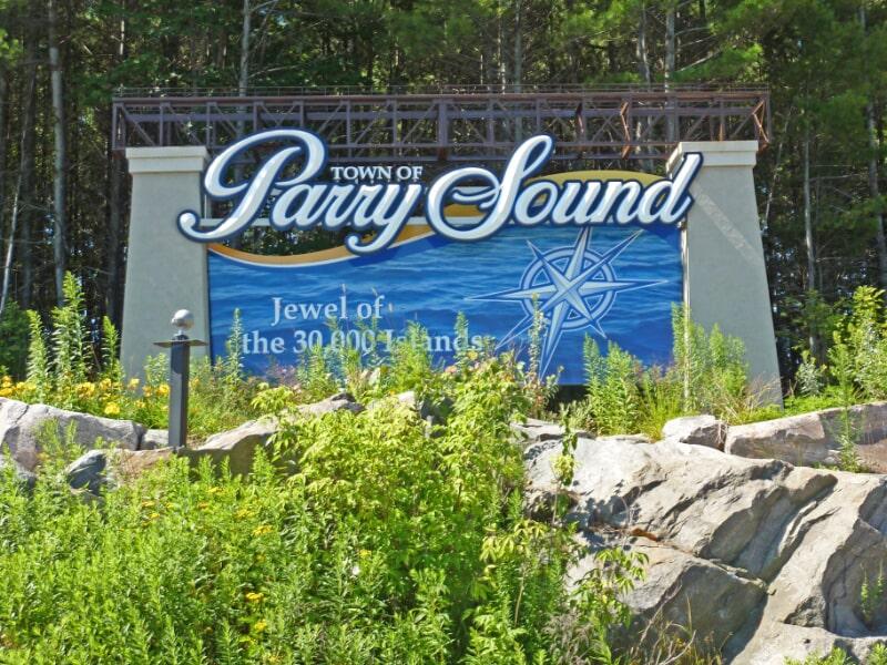 Parry sound signage