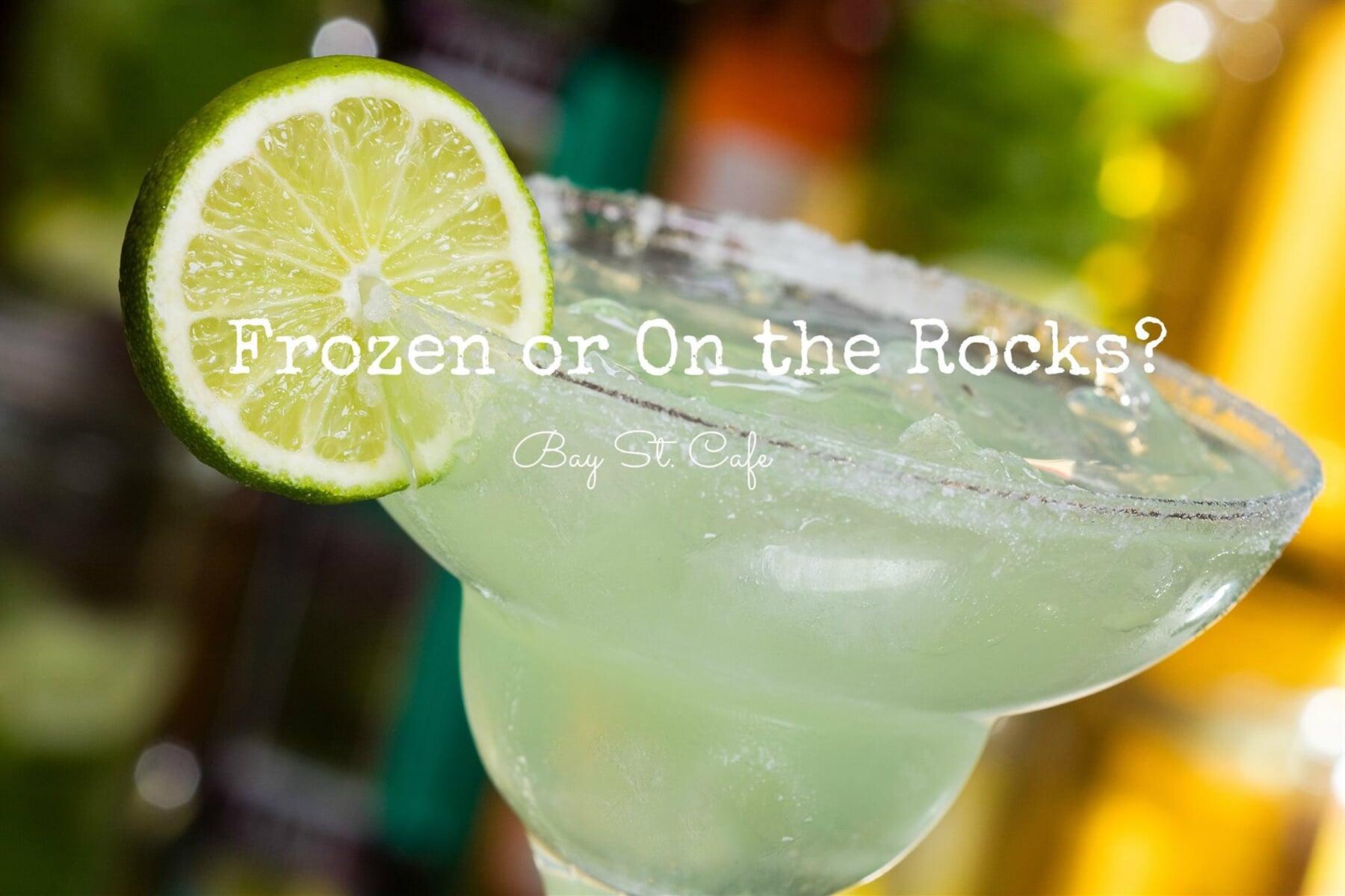 frozen on the rocks