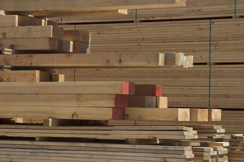Milled Lumber in piles