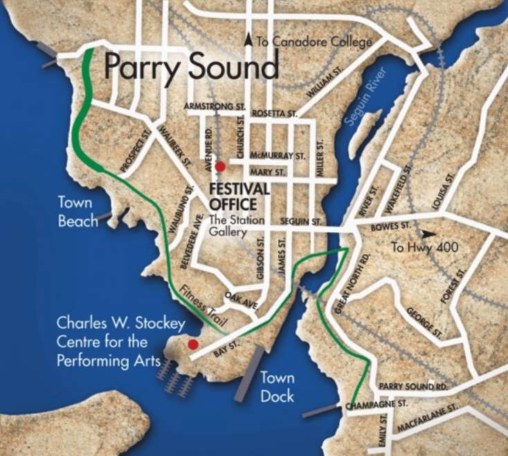 Parry Sound And Surrounding Area Maps