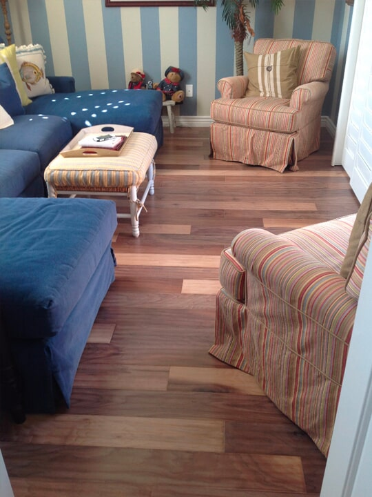 Luxury vinyl plank flooring installation in Mesa, AZ from The Floor Store