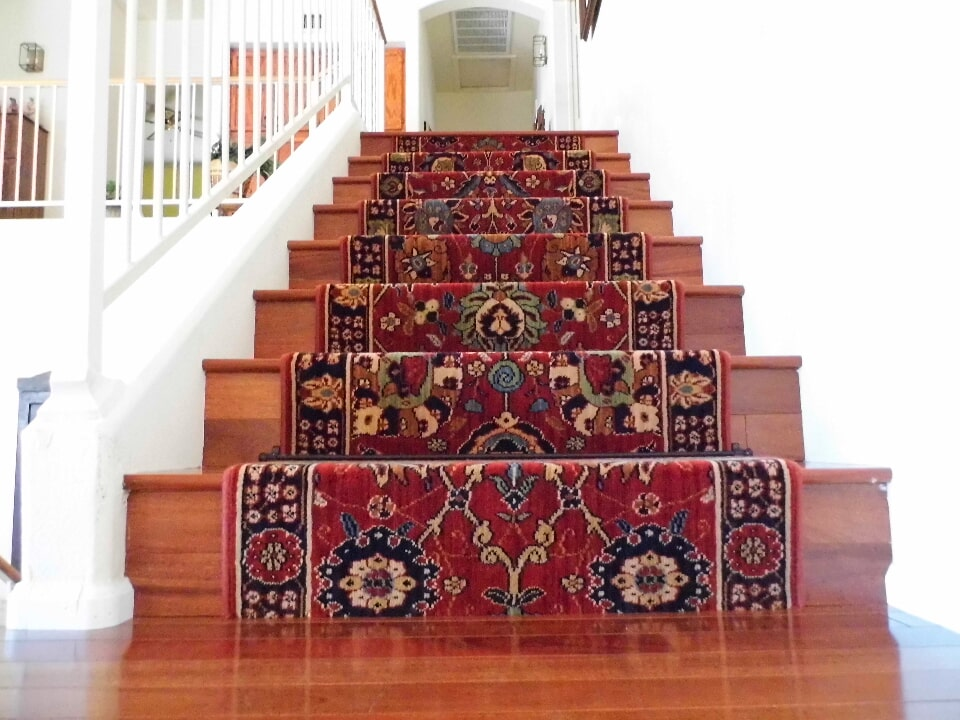 Oriental style carpet stair runners in Chandler, AZ from The Floor Store