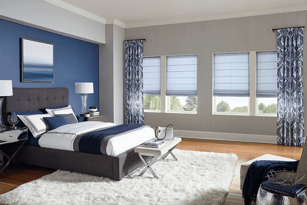 Comfortex Blinds in Sunny Bedroom