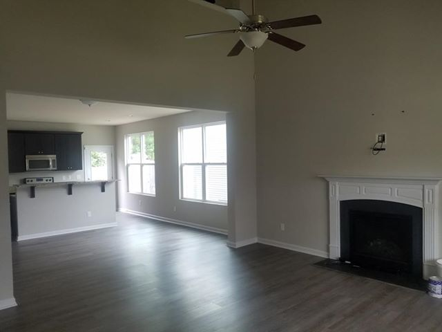 Living room remodeling from Cape Fear Flooring & Restoration