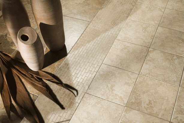 Modern natural stone flooring in Hewitt, TX from Waco Carpet Company