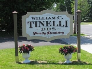 Outside Sign of William C. Tinelli D.D.S. Family Dentistry