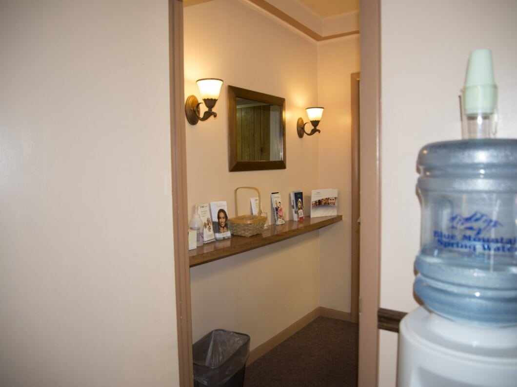 Water Cooler and Bathroom of William C. Tinelli D.D.S. Family Dentistry