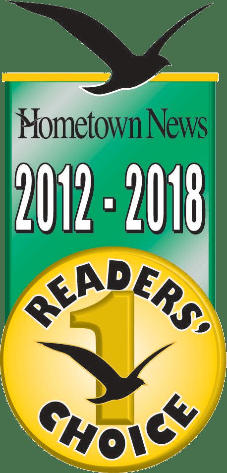 2012-2018 Hometown News Reader's Choice Award