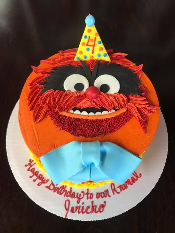 Animal from Sesame Street Birthday Cake