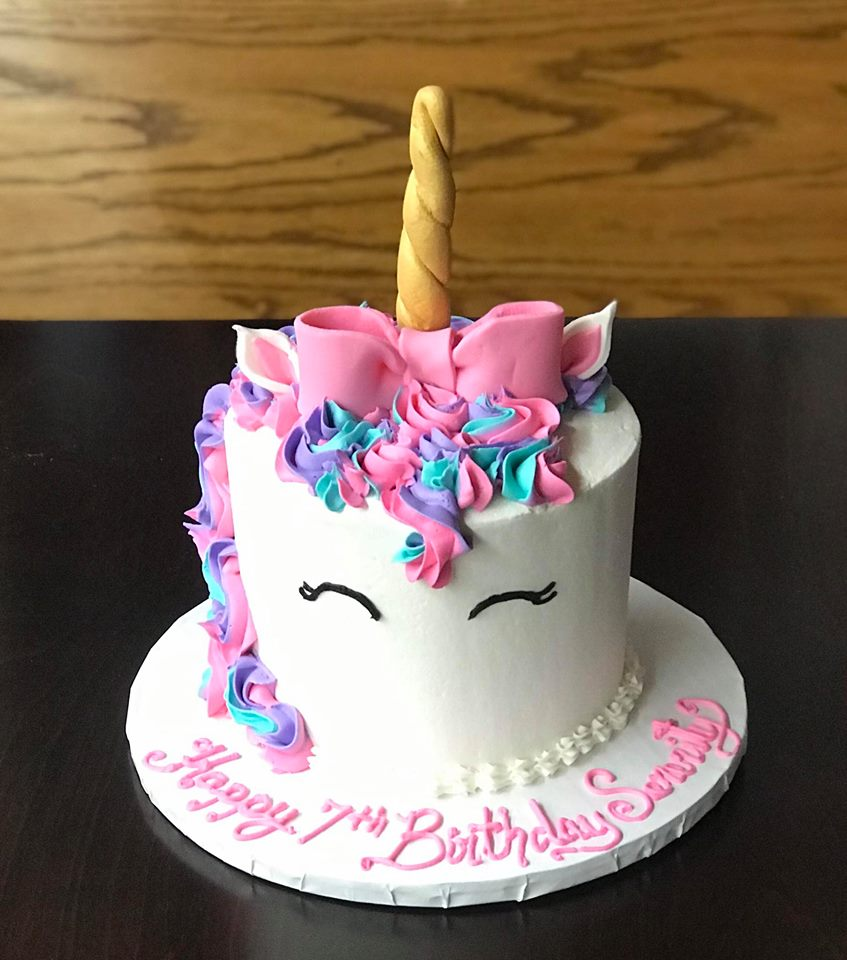 Unicorn Cake, Pink Blue and Purple mane