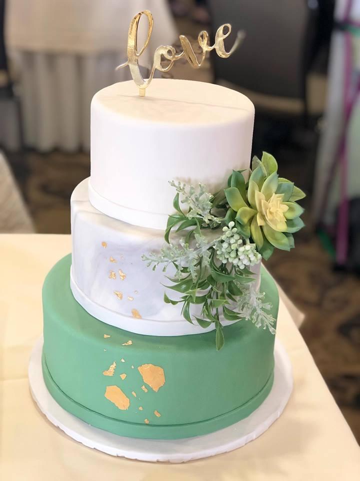 Wedding Cake with Goldleaf