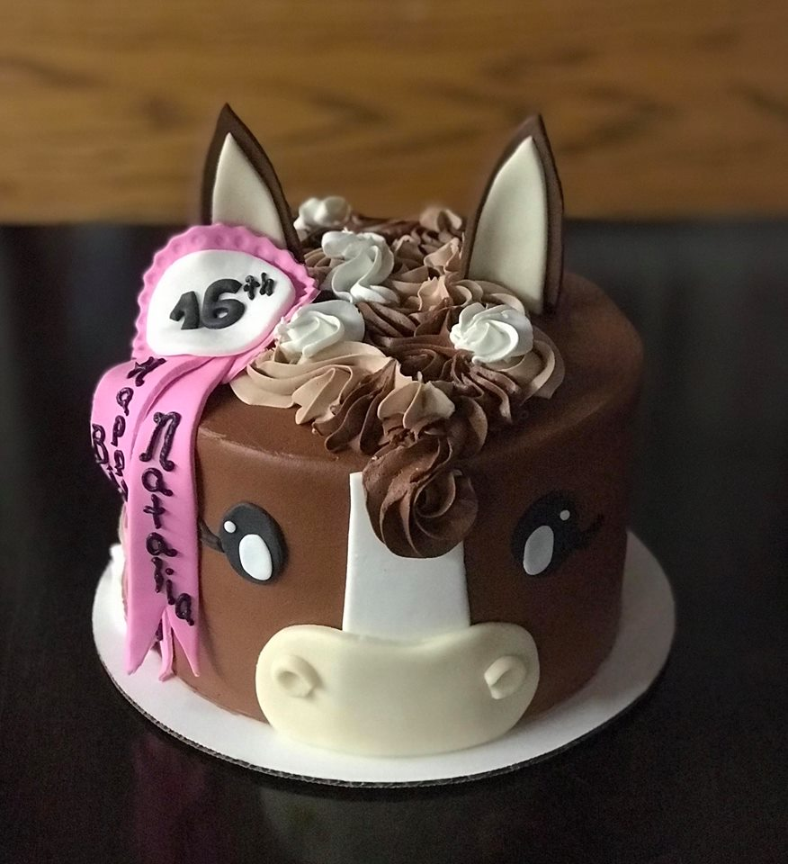 Horse with Award Tiered Cake