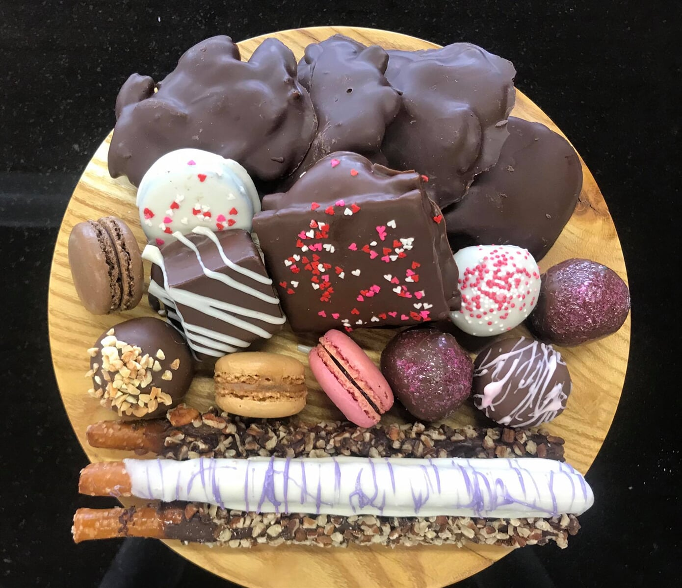 Plate full of sweet treats and Confections