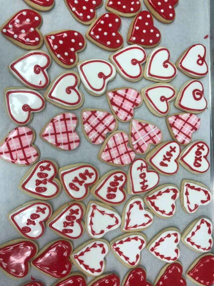 Heart Shaped Valentine's Day Frosted Cookie