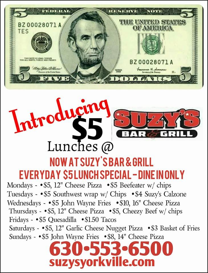 Suzy's Bar & Grill, Yorkvillle, IL