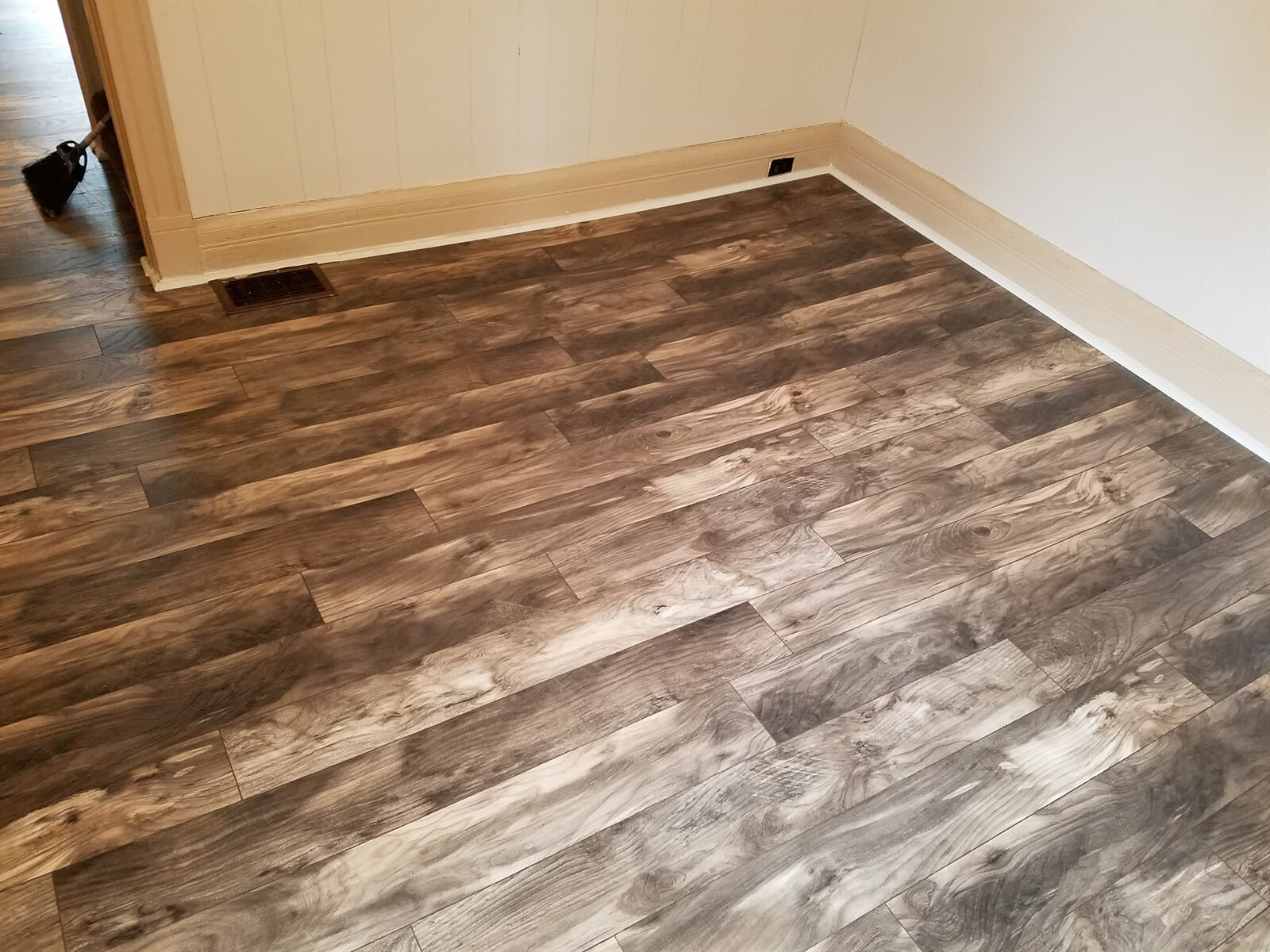 Hardwood Flooring in Room installed by RS Home Repair Services