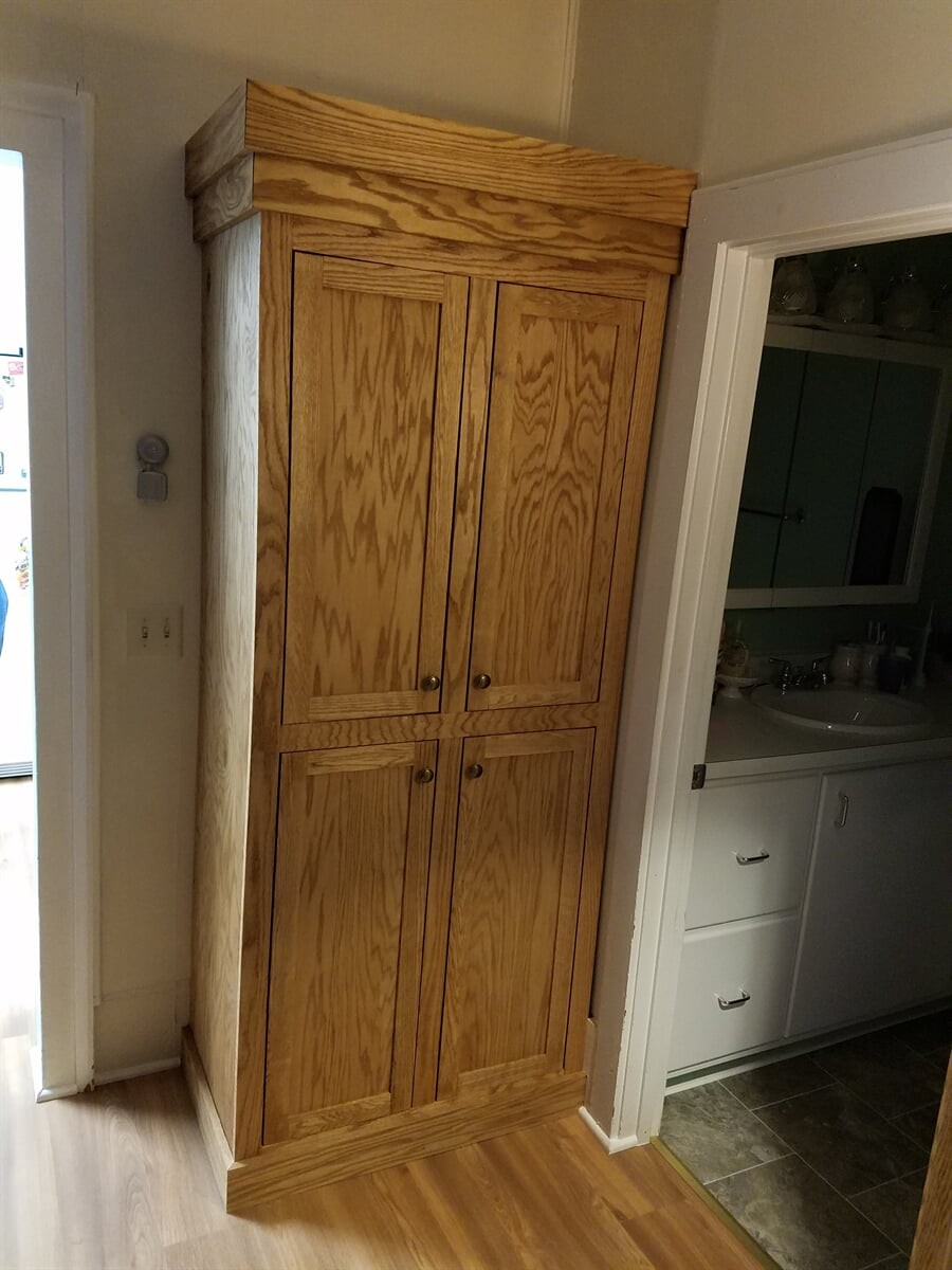 Oak Cabinet hand build and installed by RS Home Repair Services