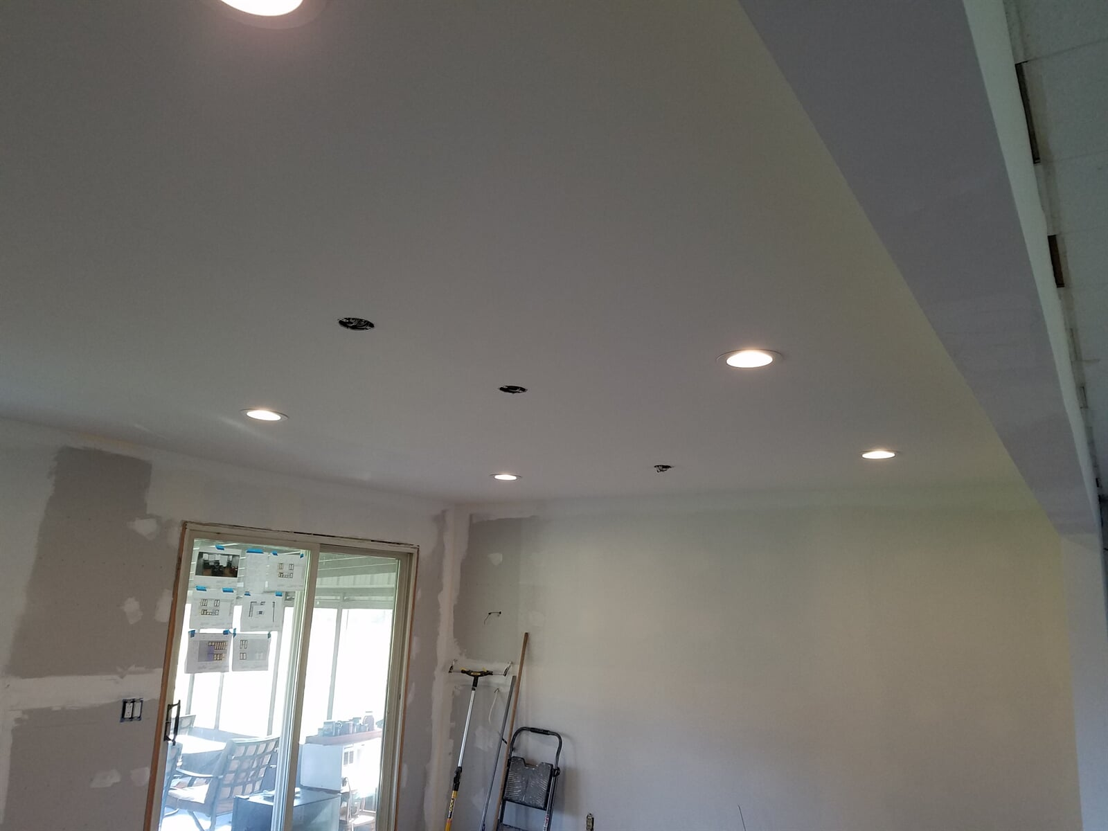 Ceiling Featuring Recessed Lighting installed by RS Home Repair Services