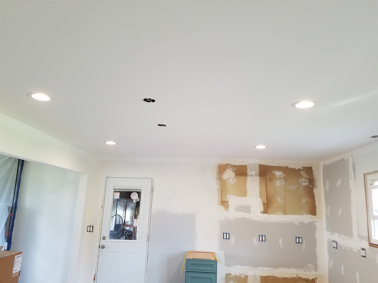 New Ceiling featuring pendant locations over island