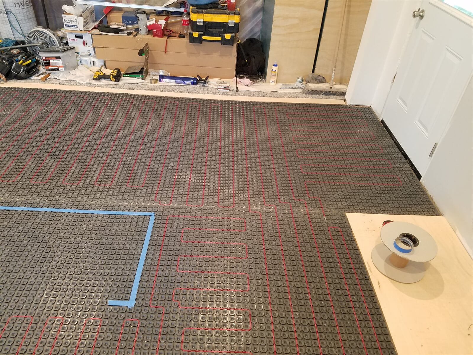 Floor in Room getting ready for in-floor Electric Heat