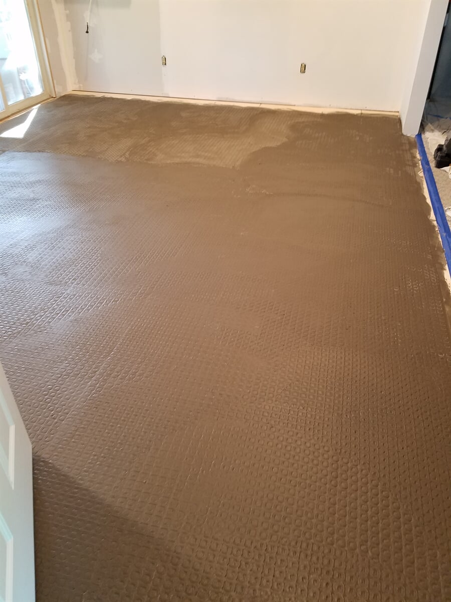 In-Floor Electric Heat installed by RS Home Repair Services