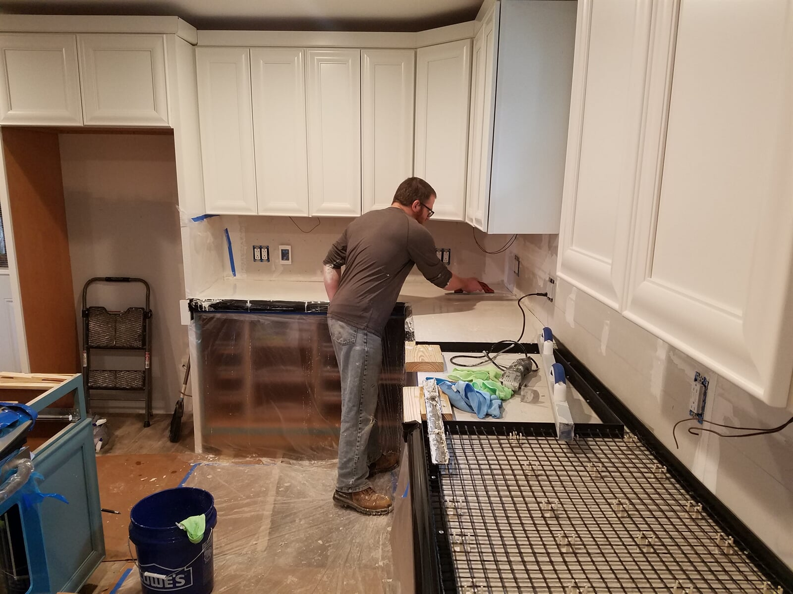 Kitchen Remodel getting ready to pour concrete Counter Tops