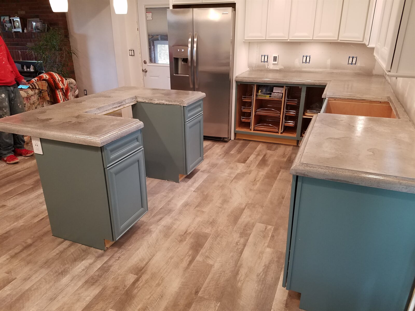 Kitchen Remodel featuring Concrete Countertops