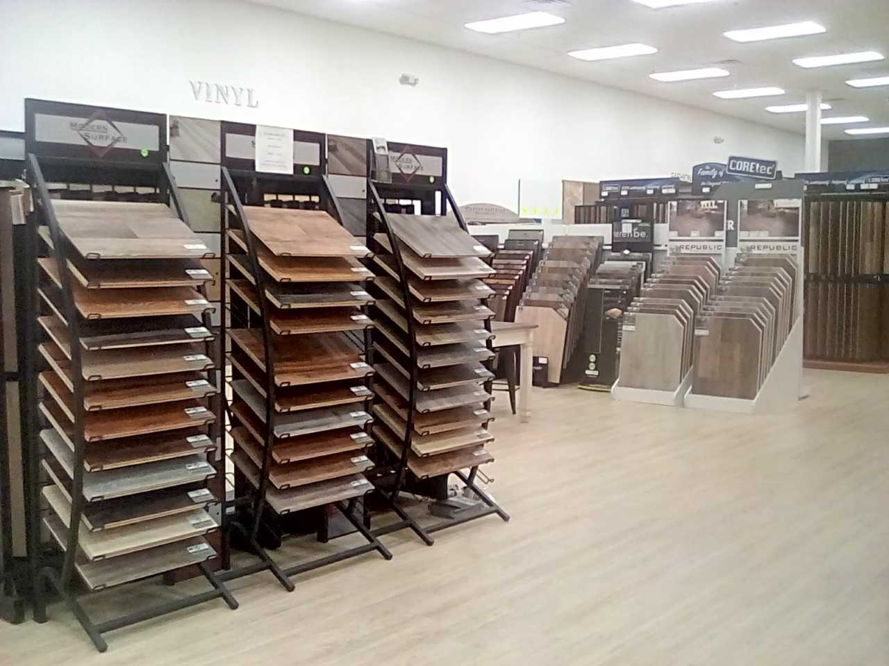 Vinyl flooring in our Phoenix Metro showroom at The Floor Store