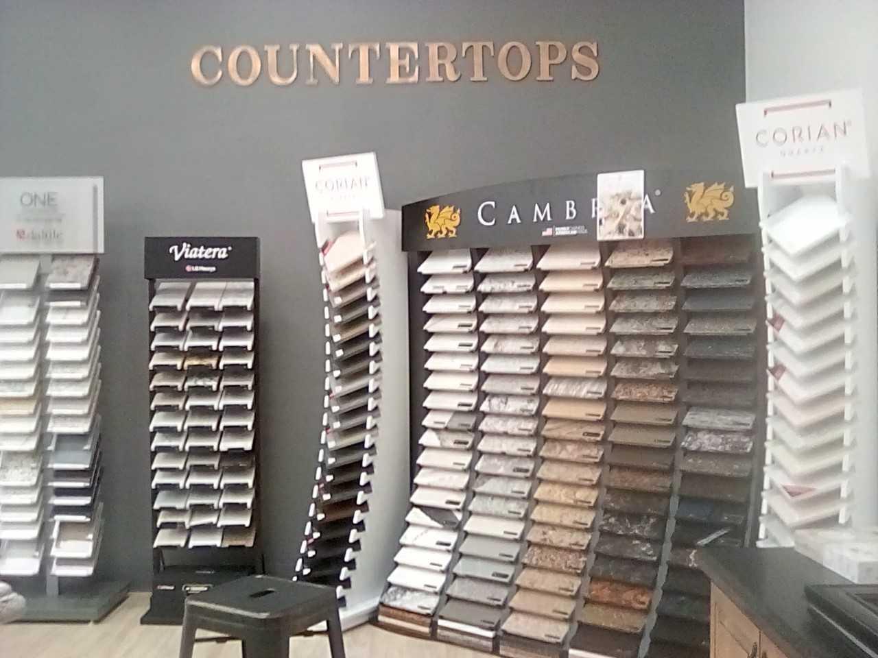 Countertop options in our Phoenix Metro showroom at The Floor Store