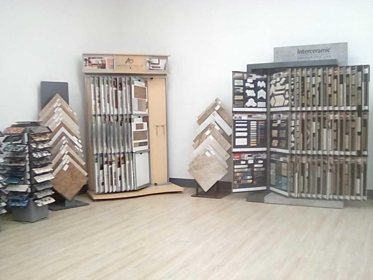 Floor tile options in our Phoenix Metro showroom at The Floor Store