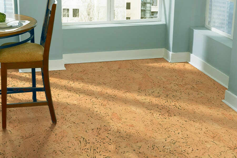 Eco-friendly flooring options such as cork in Dauphin County, PA from Indoor City