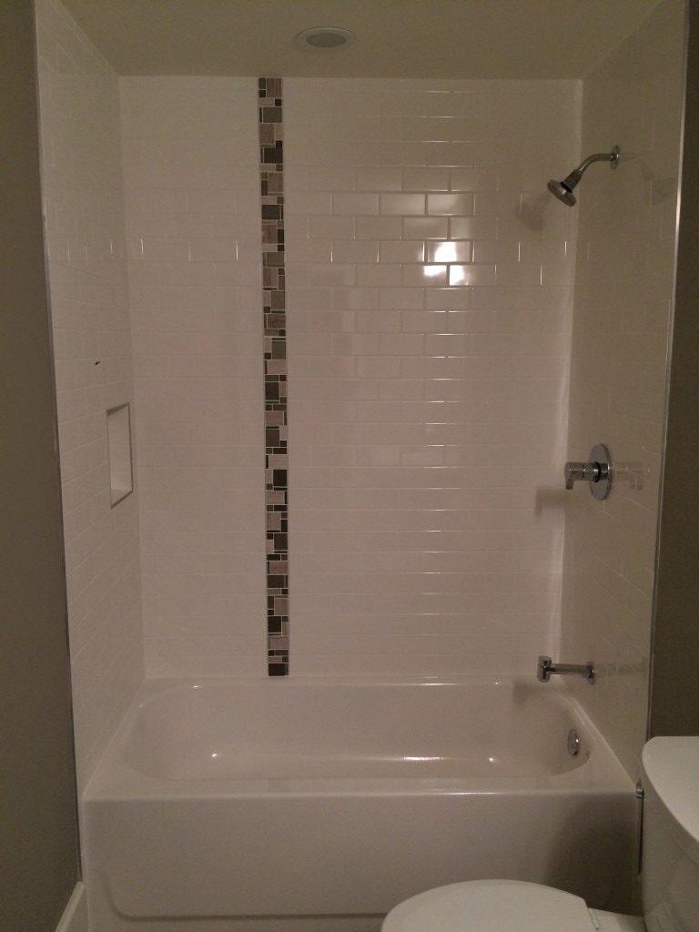 Custom bath tile in Alpharetta, GA from Prestigious Flooring and Design