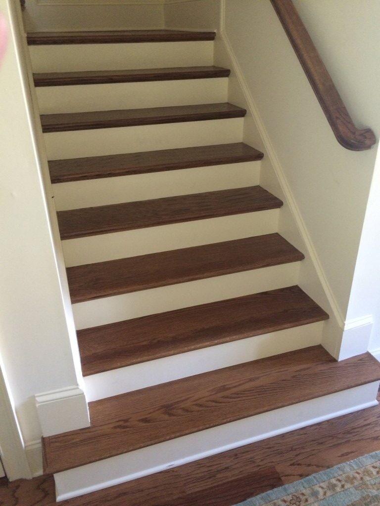 Hardwood stairs in Johns Creek, GA from Prestigious Flooring and Design