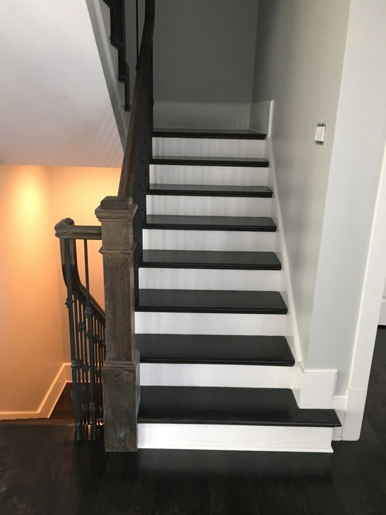 Hardwood stairs in Roswell, GA from Prestigious Flooring and Design