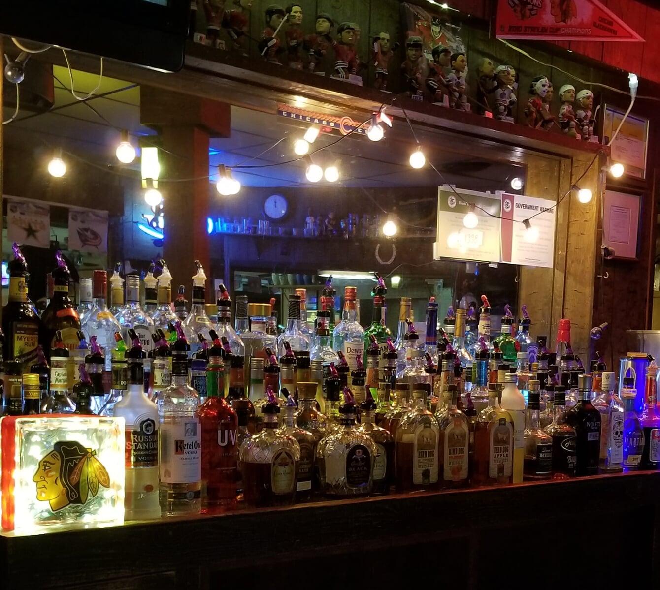 bar featuring hard liquor