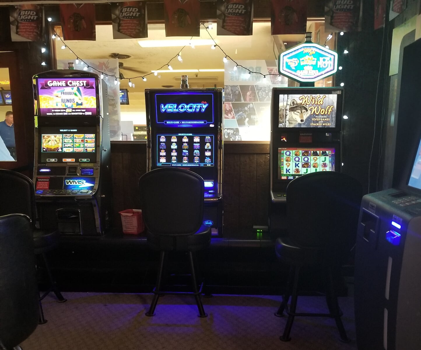 gaming section of three machines