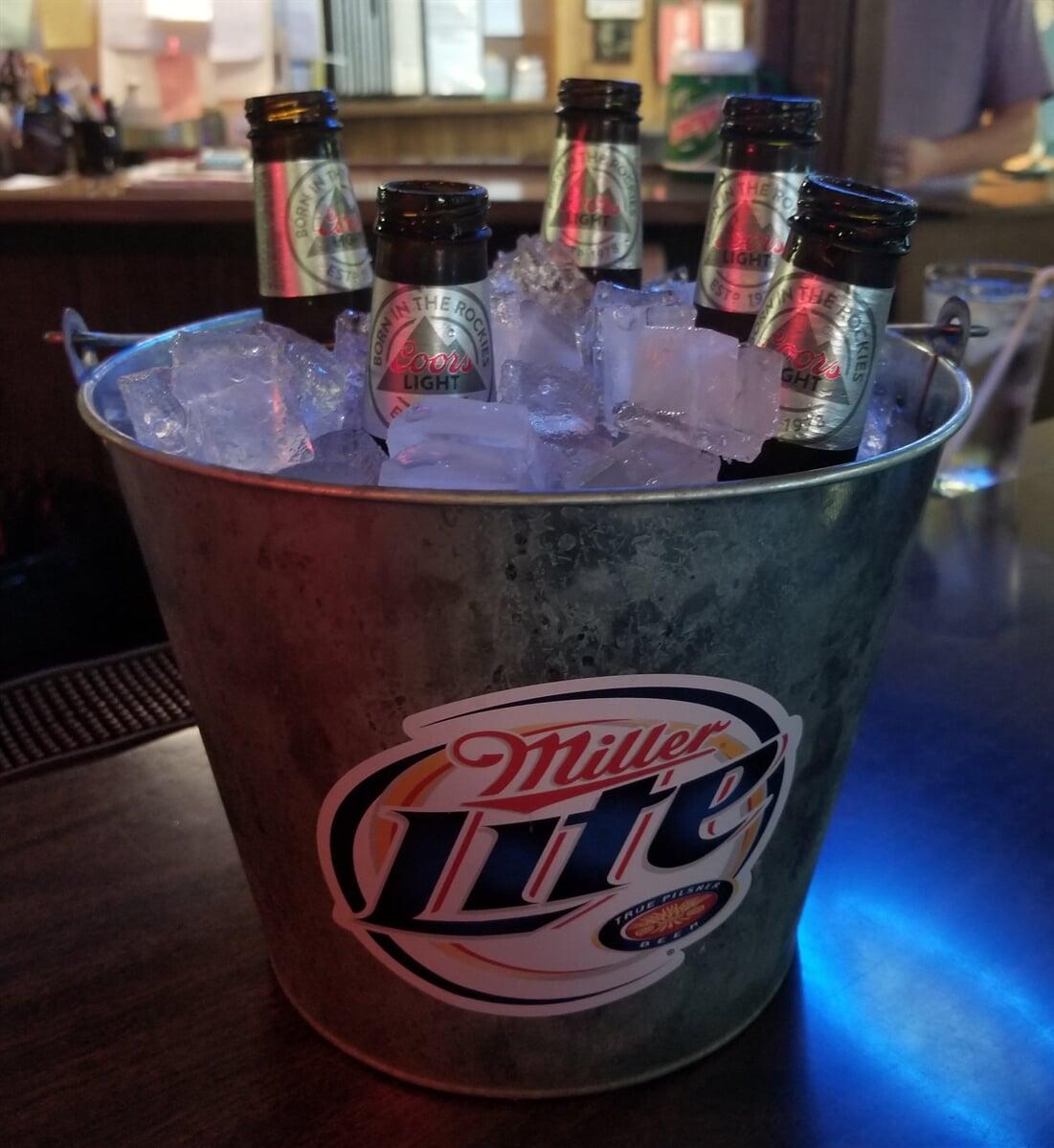 miller lite bottle bucket