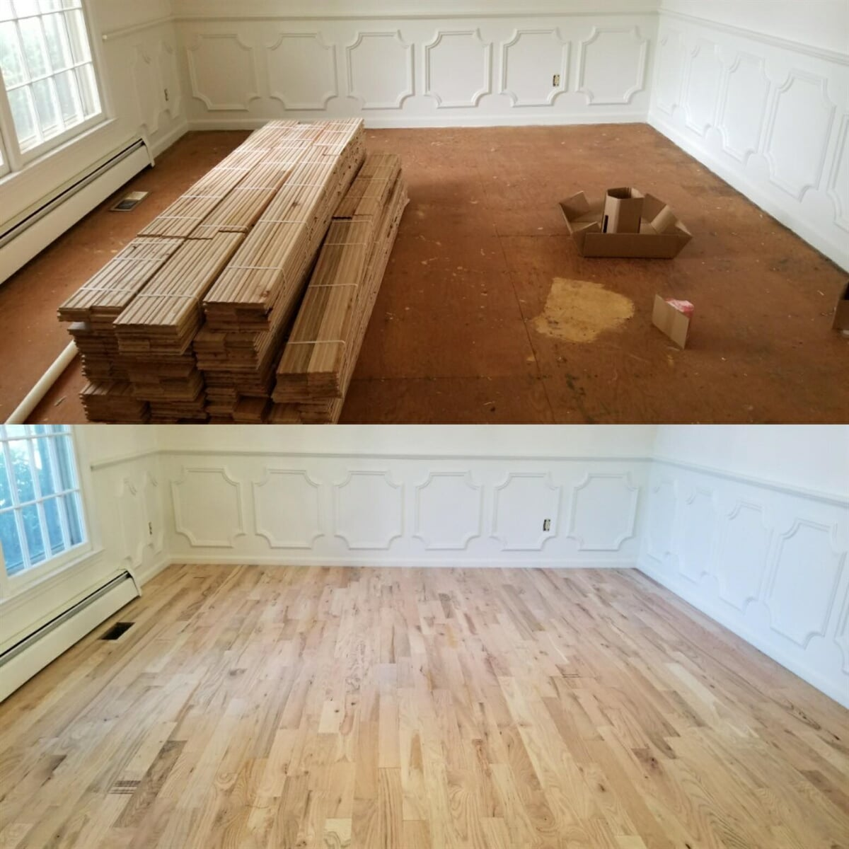 Beautiful hardwood installation in Watkinsville, GA from Carpets Unlimited