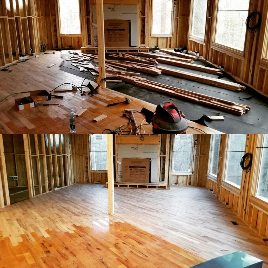 Renovation started right with new hardwood from Carpets Unlimited