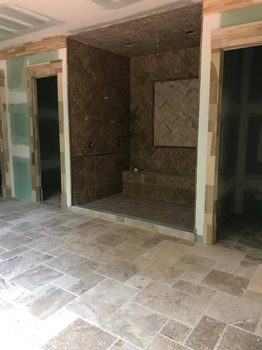 Large tile installation in Athens, GA from Carpets Unlimited