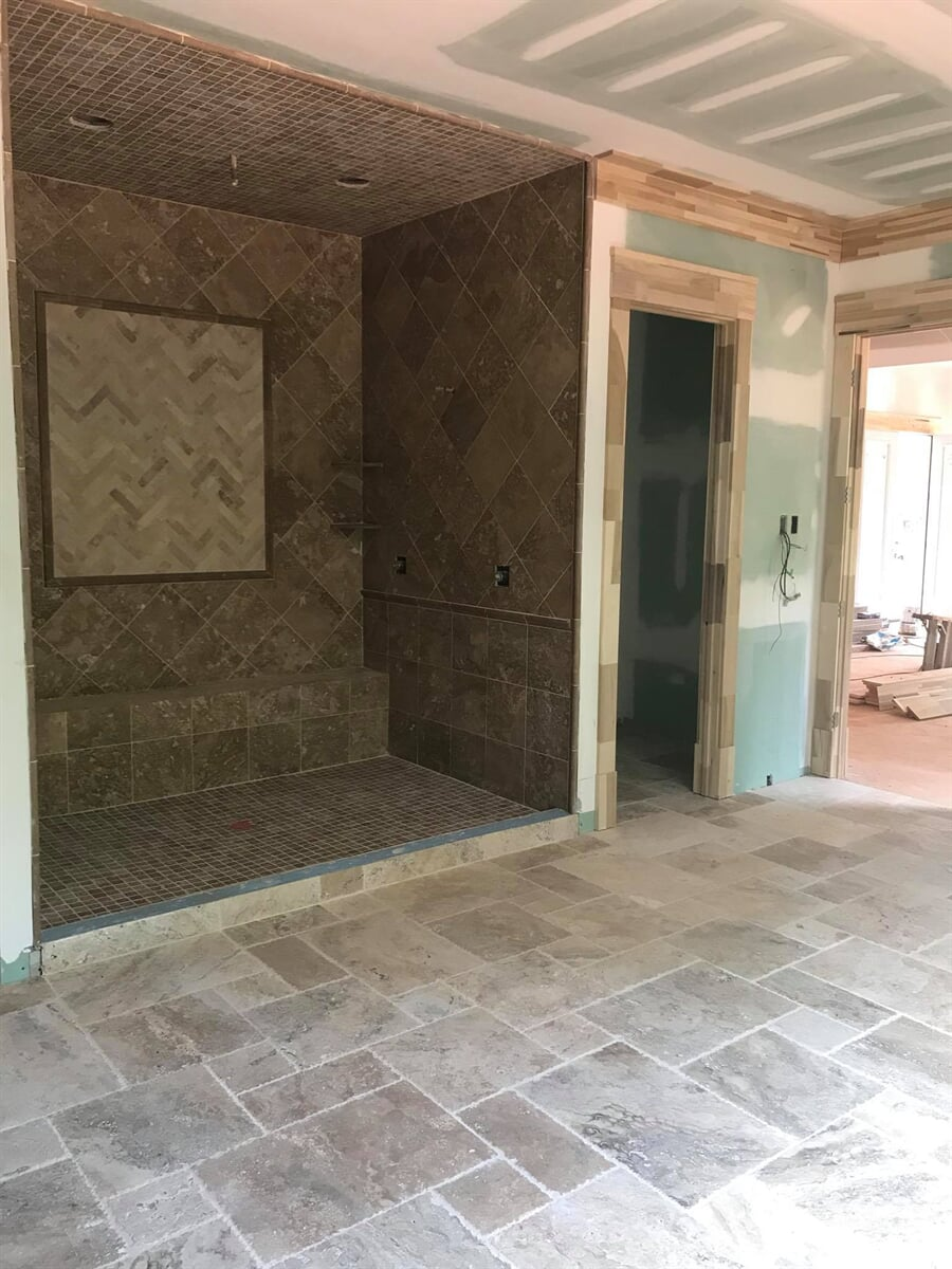 Tile installation project in Lawrenceville, GA from Carpets Unlimited