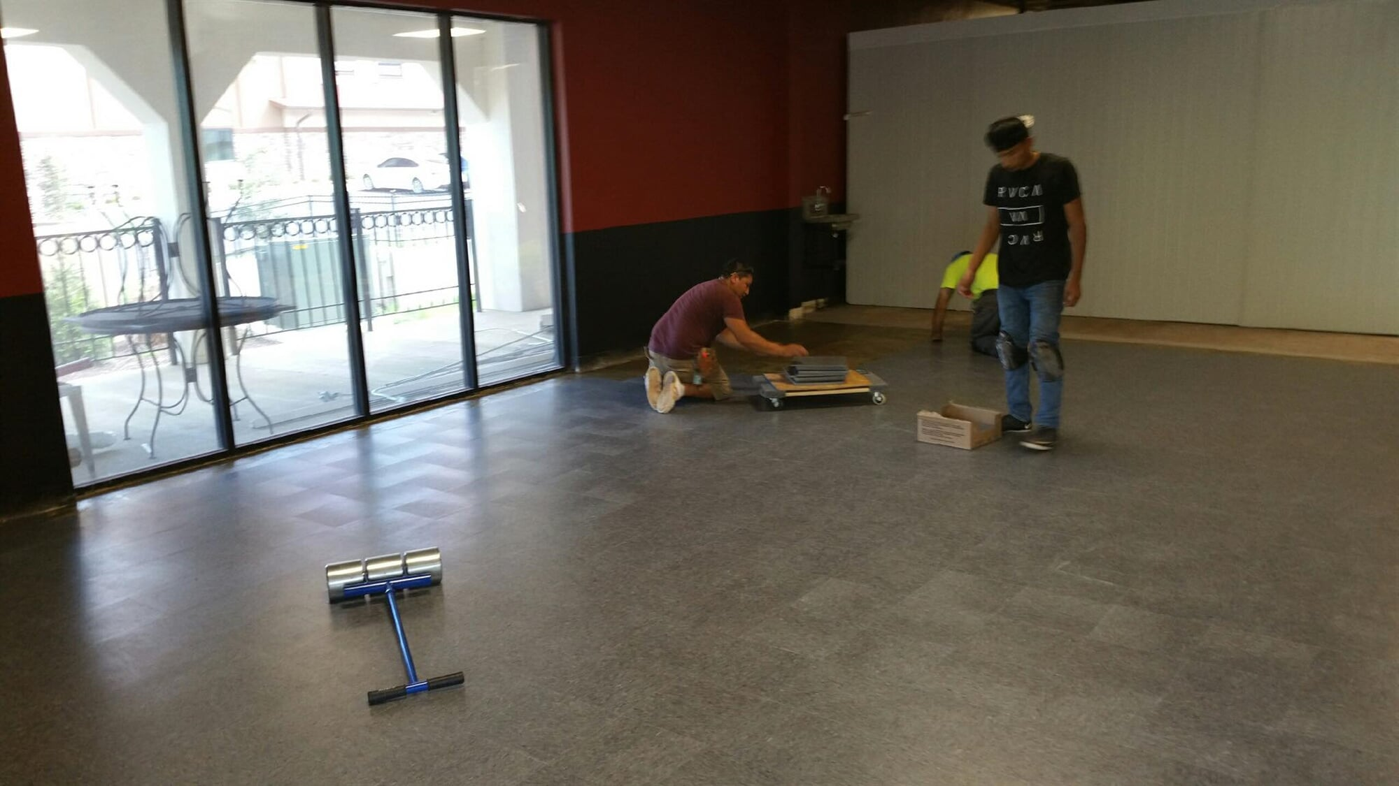 Our professional tile installers finishing a project