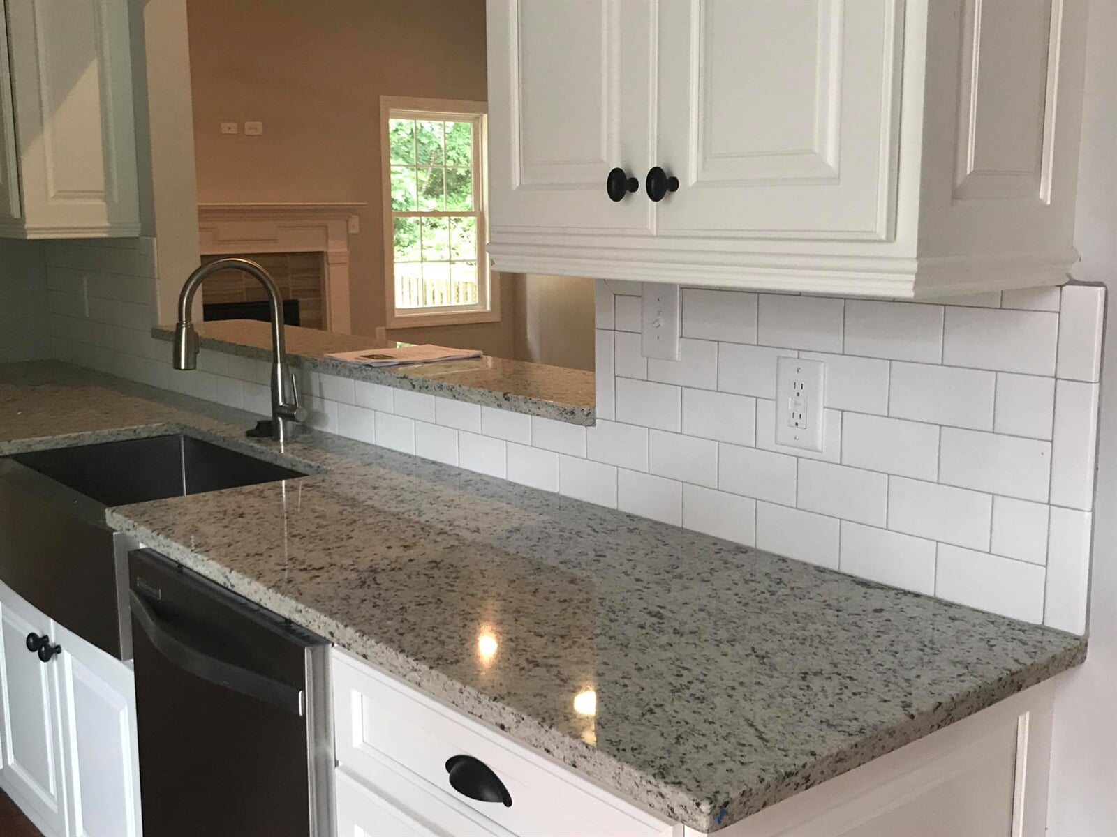 Custom tile backsplash in Lawrenceville, GA from Carpets Unlimited
