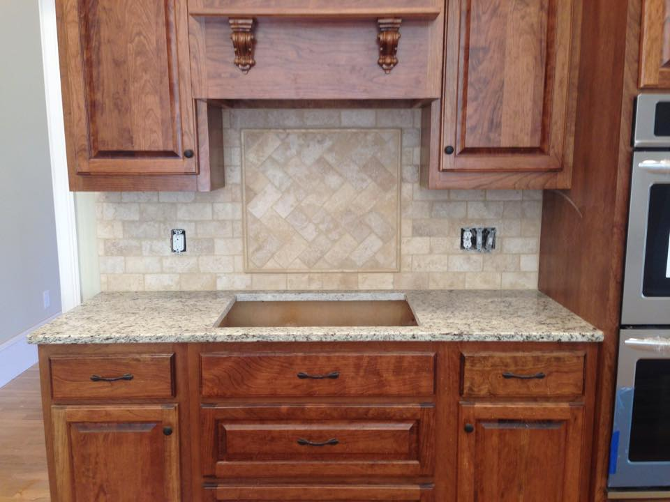 Custom tile backsplash project for a new kitchen in Watkinsville, GA