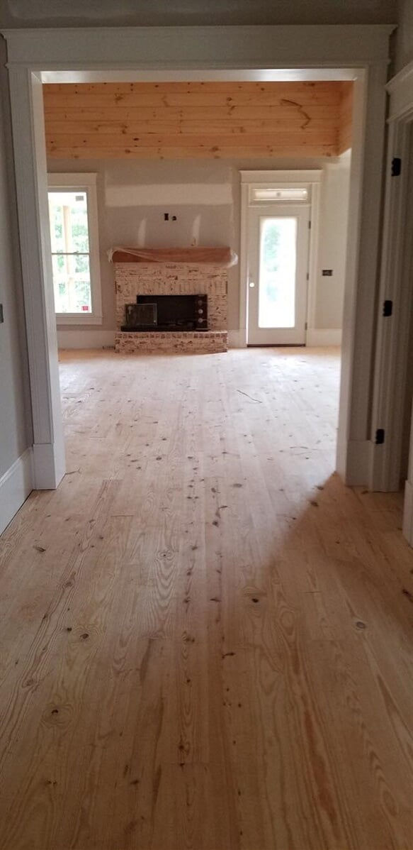 Natural hardwood installation in Lawrenceville, GA from Carpets Unlimited