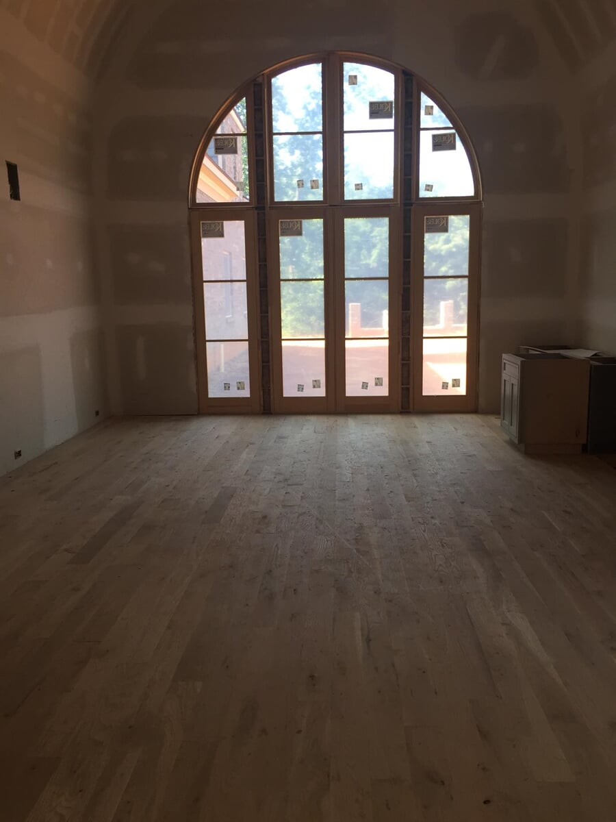 Hardwood installation for a new home in Winder, GA